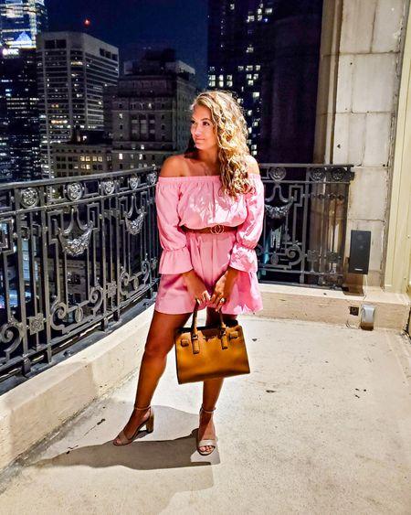 Pretty in pink / date night dress, summer dress, off the shoulder summer dress http://liketk.it/3kWB0 @liketoknow.it #liketkit