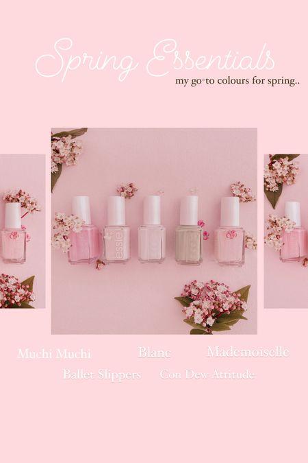 Spring essentials - nail polish - Essie    #LTKVDay #LTKSeasonal #LTKstyletip