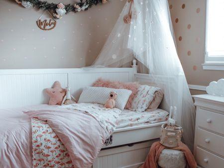 Girls Room Decor. Girls Nursery. Bedding. Throw Pillows. What I'm loving for my littles Big Girl Room decor. 💗✨    #LTKbaby #LTKkids #LTKhome