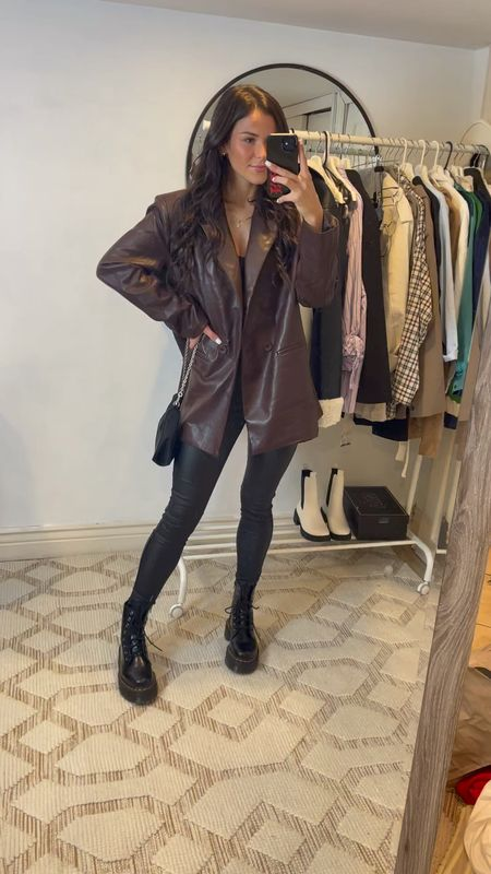 Fall outfits! #leather #blazer   #LTKstyletip #LTKunder50 #LTKSeasonal