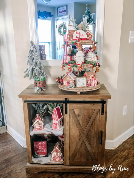 My Christmas tiered tray Tiered tray decorating  Tiered tray styling ideas   #LTKhome #LTKHoliday