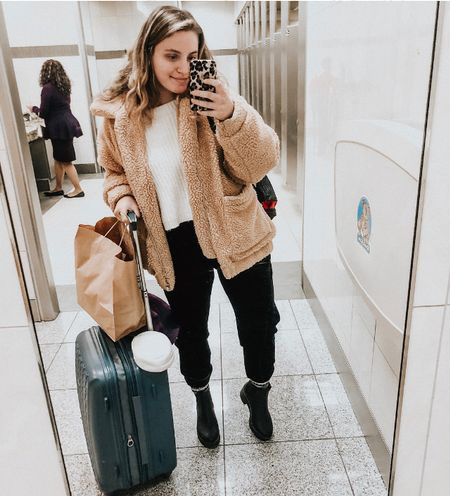a i r p o r t mirror selfie for the win✈️ officially off to rome then to florence! cannot wait for this journey 🤩 http://liketk.it/2zsSu #liketkit @liketoknow.it