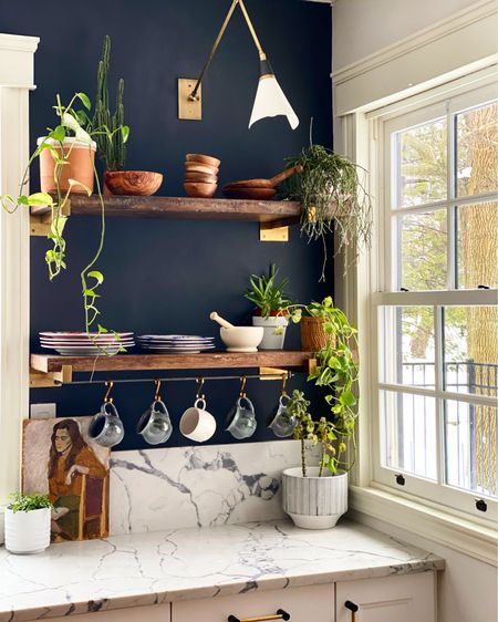 Shop my kitchen's open shelves #StayHomeWithLTK #LTKunder100 #LTKhome @liketoknow.it.home Shop your screenshot of this pic with the LIKEtoKNOW.it shopping app http://liketk.it/37xTl #liketkit @liketoknow.it