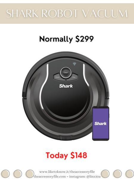 Shark Robot Vacuum on sale. Normally $299, currently $148.  For the home, cleaning products, vacuum cleaner, Walmart finds, Walmart find   http://liketk.it/3i0fD #liketkit @liketoknow.it #LTKhome #LTKsalealert