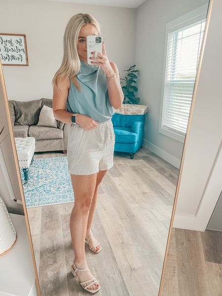 The perfect summer top for work, business, or casual wear!  Top: S Shorts: S   http://liketk.it/3hPbN @liketoknow.it #liketkit #LTKunder50 #LTKstyletip #LTKshoecrush