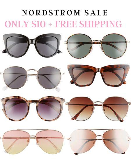 Summer sunglasses. Nordstrom sale only $10   http://liketk.it/3hnwS @liketoknow.it #liketkit #LTKunder50 #LTKsalealert #LTKDay #laurabeverlin