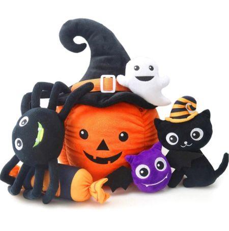 So cute baby's Halloween toy Baby toys Halloween toy Pumpkin stuffed animal  Baby gift    #LTKkids #LTKbaby #LTKSeasonal