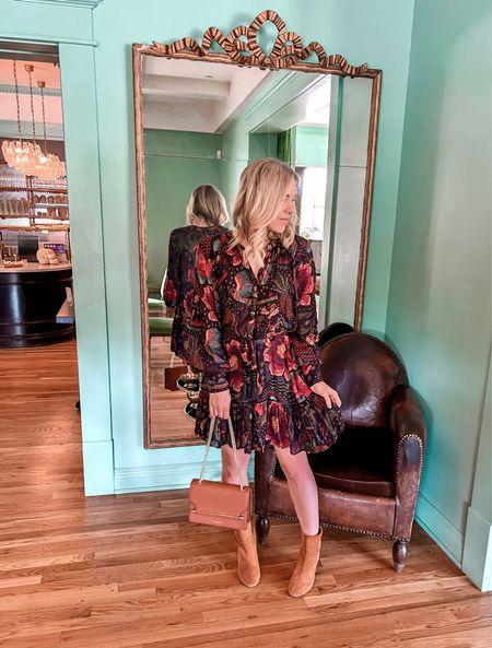 Farm Rio dress, Fall Dress, Fall Outfit Idea  #LTKshoecrush #LTKstyletip #LTKSeasonal
