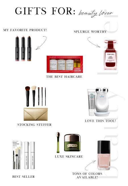 Holiday Gift Guide ❄️ For the Beauty Lover  Makeup, skincare, skin tools, NuFace, Tom Ford, perfume, makeup brushes, La Met, Nordstrom, hair care, gift set  #LTKunder100 #LTKbeauty #LTKGiftGuide