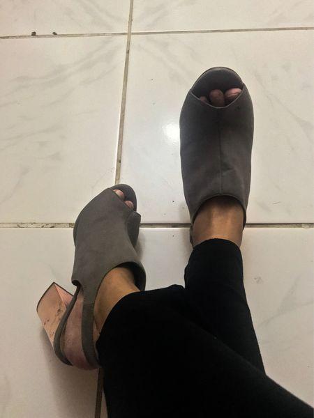 This is my fave gray block heels sandal booties ✨  #LTKshoecrush #LTKstyletip #LTKtravel