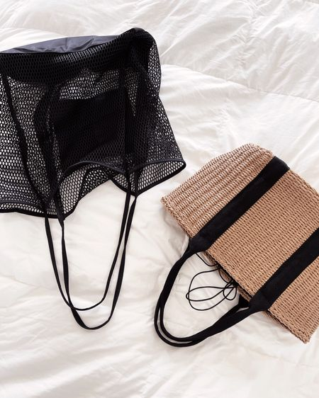 Amazon totes. The black mesh one is my favorite & is so convenient for travel to throw in suitcase for later use #liketkit http://liketk.it/3ieMD  @liketoknow.it   #LTKtravel #LTKunder50