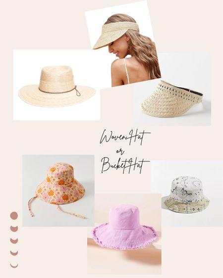 Loving fun hats this summer! Do you prefer a Woven hat or Bucket hat?! #LTKswim #LTKtravel #LTKunder50 #liketkit @liketoknow.it http://liketk.it/3hLsn