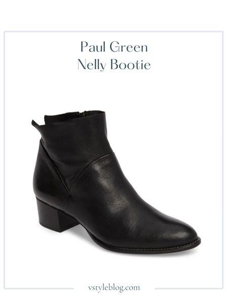 Fall boots, Work wear, Teacher outfits, Fall outfits, Fall shoes, Black booties, Sale alert  Paul Green Nelly Bootie @ Zappos ($375) @ Nordstrom ($385) @ Dillard's ($385)  #LTKSeasonal #LTKworkwear #LTKshoecrush