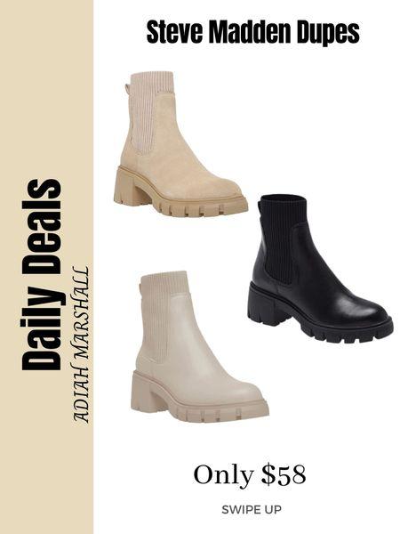 Steve Madden Boots dupe  Only $58    #LTKunder100 #LTKshoecrush #LTKstyletip