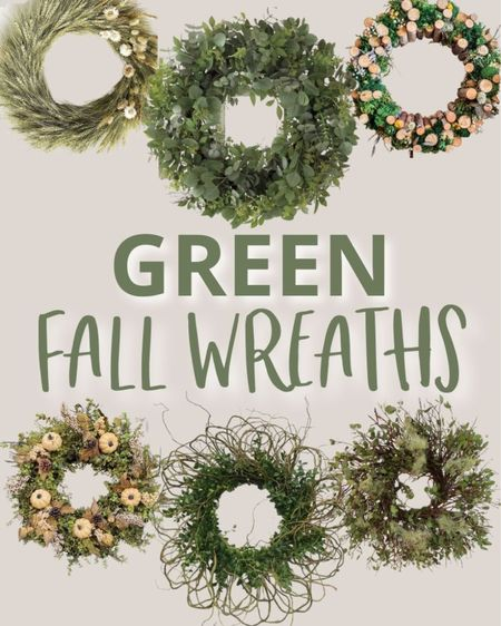 These nature inspired fall wreaths are the perfect way to welcome this new season without going overboard on  orange. Fall wreath, natural wreaths, green fall wreath, branch wreath, moss wreath, fall front porch decor, birch wreath   #LTKSeasonal #LTKHoliday #LTKhome
