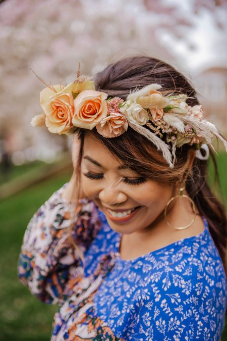 DIY floral crown materials (just add flowers).  Perfect for boho looks, weddings, music festivals or whatever occasion!  Flower crowns, floral tape, floral headpiece http://liketk.it/3hB98 @liketoknow.it #liketkit #LTKstyletip #LTKunder50 #LTKwedding Download the LIKEtoKNOW.it app to shop this pic via screenshot