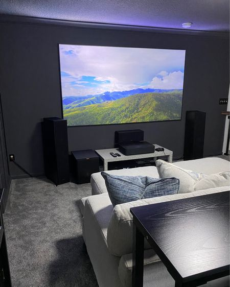 The tech side of the movie room! Speakers, screen, receiver and projector. Can get them all from Amazon.   We bought the speakers from Costco but they are available on Amazon as well! http://liketk.it/3ehYr #liketkit @liketoknow.it #LTKhome #LTKfamily #LTKsalealert