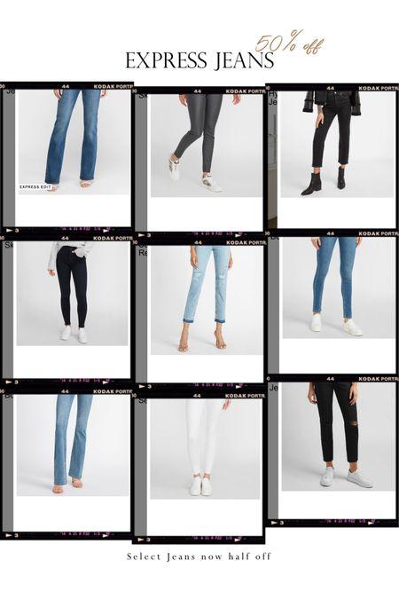 EXPRESS jeans now 50% off select style. Go shop your favorite styles.  . 𝐈𝐆 amberbeautyartistry  . . .  @liketoknow.it #liketkit http://liketk.it/36Vct #LTKstyletip