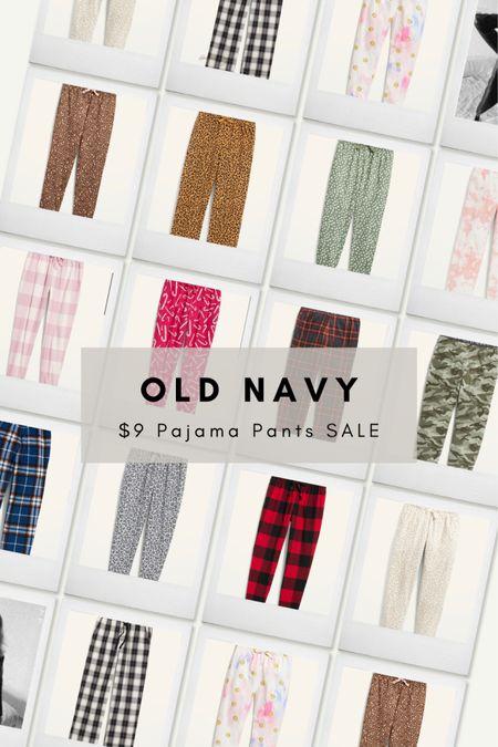 Old Navy Pajama Pants Sale! $9- women's, men's and kids.  #LTKsalealert #LTKunder50