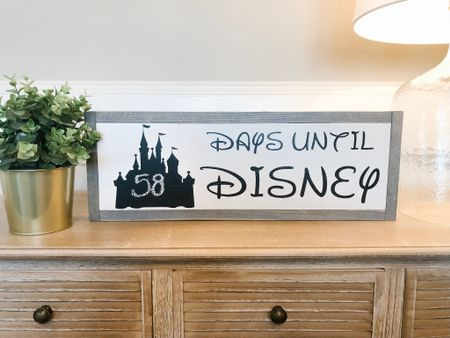 The cutest countdown to Disney sign!  Use the code: DISNEYFORANYONE for 15% off  http://liketk.it/2DqSY #liketkit @liketoknow.it Screenshot this pic to get shoppable product details with the LIKEtoKNOW.it app #LTKfamily #LTKhome #LTKtravel #LTKunder50 #disney