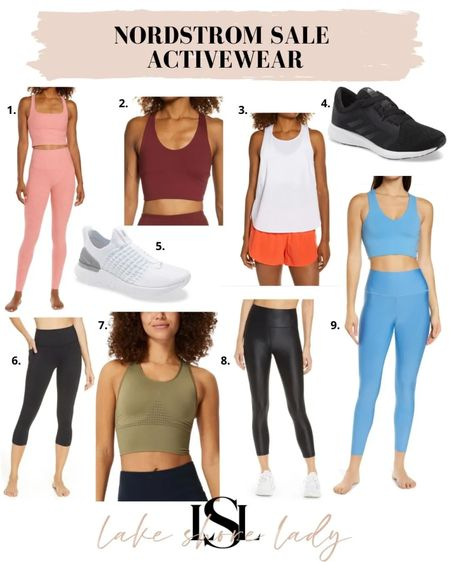 The best activewear from the Nordstrom sale! #nsale Workout clothes Running shoes Yoga  Sports bra Leggings  fitness set
