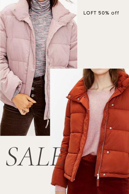 Loft 50% off puffer coats, puffer jacket, puffer coat  #LTKsalealert #LTKunder100