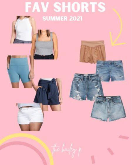 My fav summer shorts and basic tanks! 🤍 http://liketk.it/3k6c1 #liketkit @liketoknow.it #LTKcurves