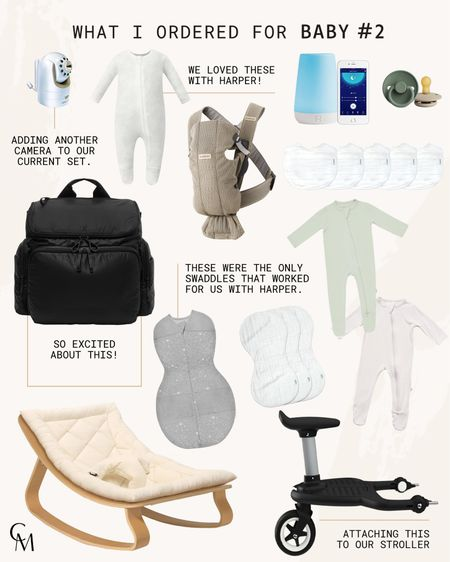 What I bought for baby #2. Newborn essentials.   #LTKbaby