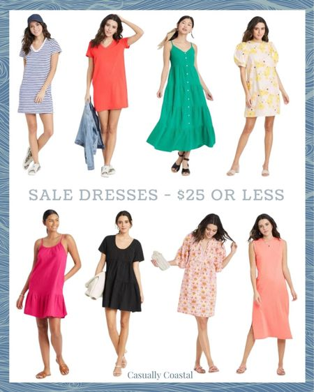 Save 20% on select Target dresses right now. All dresses featured are under $25, and most would make great beach cover-ups as well! All of these come in different prints and colors so be sure to check each of them out if you're on the hunt for a specific color!  #LTKswim #LTKunder50 #LTKsalealert http://liketk.it/3hcIF   @liketoknow.it #liketkit  beach vacation outfits, summer fashion, resort style, resort wear, beach style, coastal living, dresses for summer, summer dresses casual, summer dresses women, beach vacation dresses, beach dresses, summer dress, target dresses, dresses on sale, affordable dresses, beach cover-ups, beach coverup, beach vacation coverups, coverups for women, t-shirt dress, tshirt dress, ruffled maxi dress, tiered maxi dress, maxi dress, short sleeve dress, midi dress, babydoll dress, tiered dress, green maxi dress, sleeveless dress, dresses under 20, dresses under 30, dresses under 50, striped t-shirt dress, cotton dresses, sale dresses, dresses on sale