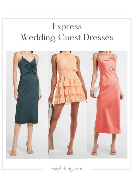 Wedding Guest Dresses, Summer Dress, Maxi Dress, Midi Dress, Mini Dress., Slip Dress, LTK Day, Sale Alert  Satin Ruched Front Slip Dres (was $88, now $69.99), Smocked Tiered Mock Neck Dress ($80), Satin Cowl Neck Maxi Slip Dress ($98)  #LTKDay #LTKsalealert #LTKunder100