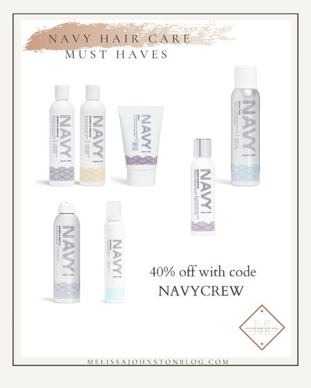 40% off sale at Navy Hair care.  I LOVE their shampoo and conditioner and also use the Pebble Beach texture Spray, The Styling foam, and the Swell styling cream.  I'm going to try their new dry shampoo and the argan biotin treatment too  Use code NAVYCREW   #LTKstyletip #LTKbeauty #LTKsalealert