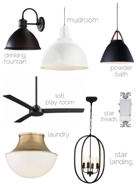 Lighting, pendant lights, flush mount lighting, brass lighting, stair lighting, black ceiling fan   #LTKunder100 #LTKunder50 #LTKhome