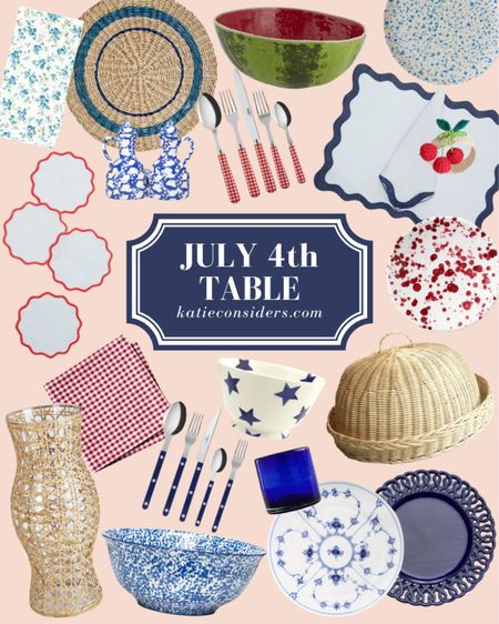 Some of my favorite pieces for the Fourth of July table. Explore them all at KatieConsiders.com @liketoknow.it #liketkit http://liketk.it/3iiv4