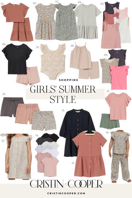 Girls' Summer Style // tops // shorts // dresses // swim // pjs // skirts http://liketk.it/3gPC1 #liketkit @liketoknow.it