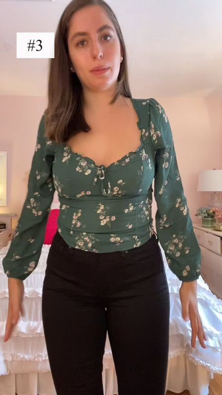 Abercrombie fall haul, try-on haul, long sleeve, fall fashion, fall tops, puff sleeve, reformation, rouched top, fall outfits, fall fashion, black bodysuit, back to school, back to school outfits, back to school fashion  #LTKbacktoschool #LTKfit #LTKunder50