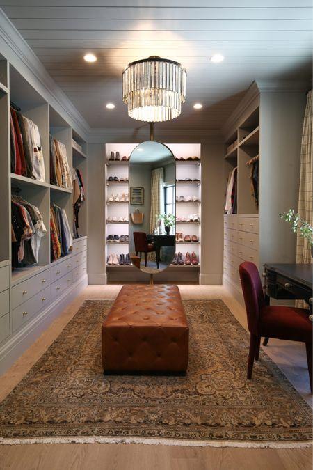 Closet, Ottoman, Chandelier, Home Decor   #LTKhome