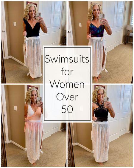 Swimsuits for women over 50  #LTKtravel #LTKswim #LTKSeasonal