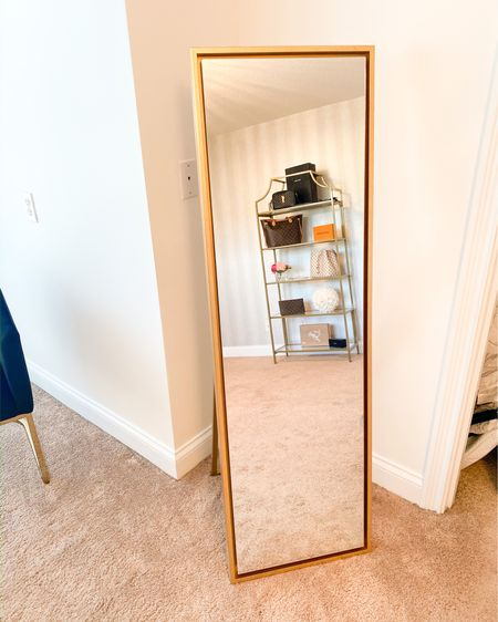 Floor Length Gold mirror💕 http://liketk.it/2MXVd #liketkit @liketoknow.it