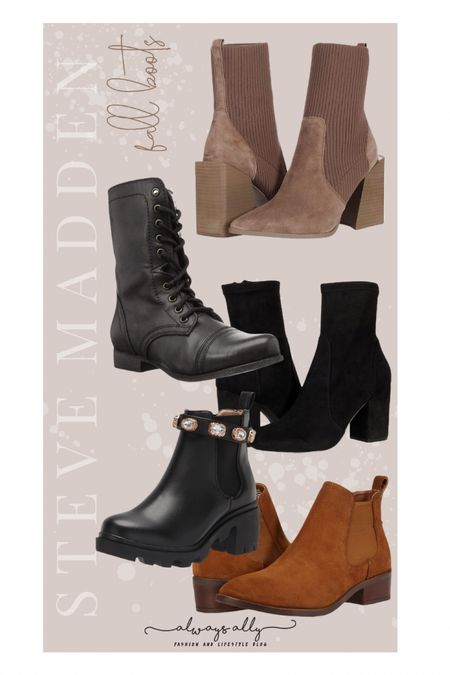 Amazon Fashion. Women's Steve Madden booties   #LTKsalealert #LTKunder100 #LTKshoecrush