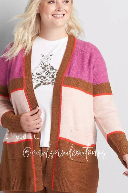 Chic fall plus size cardigan! Wear with denim and a white tee!   #LTKunder50 #LTKbacktoschool #LTKcurves