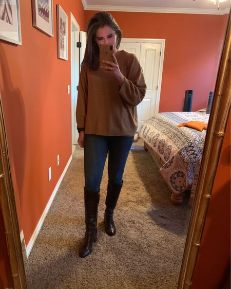 You can create an almost identical outfit to this!The sweater is a few years old, but I have found a few close options. Major bonus, the boots are on sale!   http://liketk.it/2LfEE #liketkit @liketoknow.it #LTKsalealert #LTKshoecrush #LTKunder100