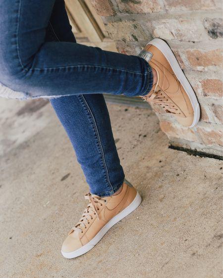 Tan Nike Blazer low SE. Tan sneakers.   http://liketk.it/2KDHS #liketkit @liketoknow.it #LTKshoecrush #LTKunder100 #LTKtravel