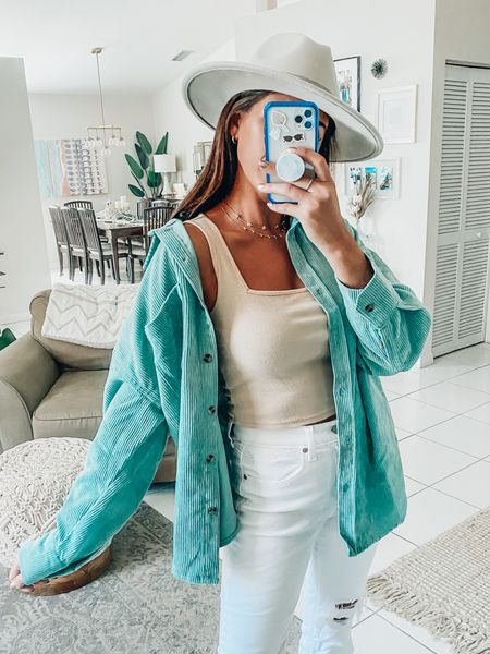 SUMMER TO FALL STYLE 💚   Fall fashion  Fall trends  Corduroy shirt Steve Madden  Amazon finds Transitional styles  Summer to fall    #LTKstyletip #LTKunder100 #LTKunder50