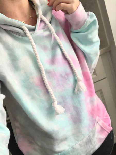 Loving a cozy tie dye sweatshirt for summer 💗💛💙 http://liketk.it/2CRGz #liketkit @liketoknow.it