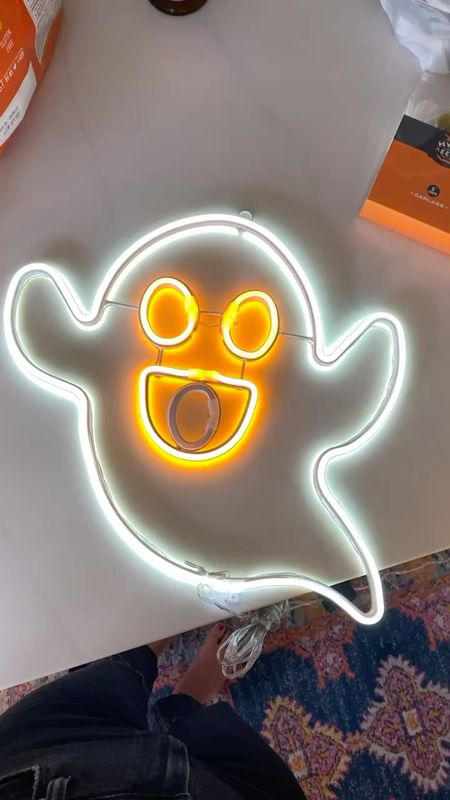 Boo ghost neon sign 😍 👻   #LTKSeasonal #LTKunder50 #LTKHoliday