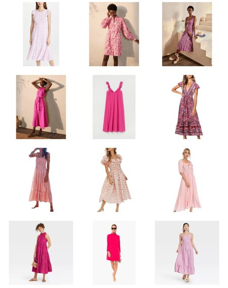 Pretty pink dresses for summer