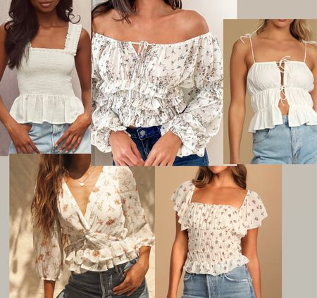 Country concert top inspiration! Love these smock and floral tops! Perfect to style with your favorite jeans and shorts!   #LTKunder100 #LTKstyletip #LTKunder50