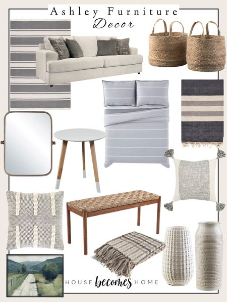 Ashley Furniture has everything you need to style your home!  Home decor, sofa, throw pillows, vases, cozy, rugs, baskets  #LTKstyletip #LTKunder100 #LTKhome