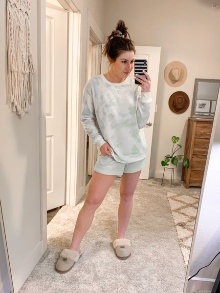 I love a good, cozy lounge wear set from Target! This tie dye pullover and matching shorts are the SOFTEST - I always love the Stars Above brand. The best quality for a really great price!  #StayHomeWithLTK #LTKunder50 #LTKshoecrush