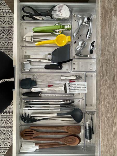 < after 🤍 Organized kitchen drawer … and that fit! || #kitchenorganization #organizeddrawer #kitchen   #LTKfamily #LTKhome #LTKsalealert
